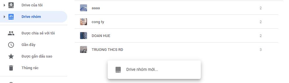 Cách tạo Drive chung với tài khoản Google Drive Unlimited
